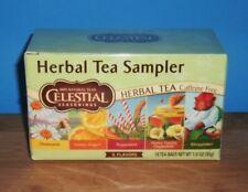 New Celestial Seasonings Herbal Tea Sampler Tea Bags Chamomile Peppermint ....