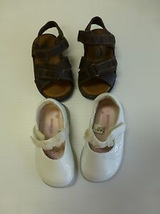 Baby Girls Shoes Colorado Size 4 Sandals & Genuine Kids Size 3 White Dress Shoes