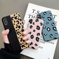 Fashion Leopard Print Shockproof Phone Case Cover For iPhone XS Max XR 8 7 Plus