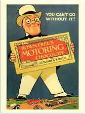 More details for metal sign 78 19 rowntrees motoring chocolate 1920s a3 16x12 aluminium