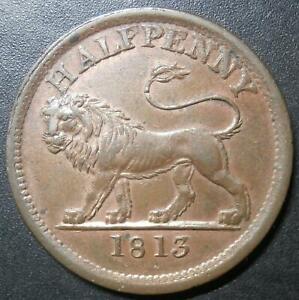 Halfpenny token - British Copper Company 1813 - Walthamstow Essex W#610