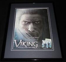 Viking Battle for Asgard 2008 PS3 Xbox 11x14 Framed ORIGINAL Advertisement