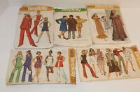 Lot of 5 Vintage   Retro Simplicity Sewing Patterns Pre-owned- 1971