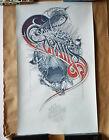 Aaron Horkey - Grails San Diego 2009 Silkscreen Show Poster Burlesque Rare Print