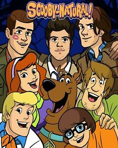 """""""Scoobynatural"""" Gang! -- 8x10 Personalized by Grey -- Charity!!  Great Gift!!"""