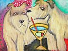 WHEATEN TERRIER Collectible ACEO Dog Art Print 2.5 x 3.5 Signed by Artist KSams