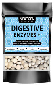 DIGESTIVE ENZYMES PILLS DIGESTION SUPPORT GAS & BLOATING RELIEF - 100 TABLETS