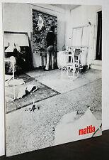 Gianluigi Mattia catalogo Galleria La nuova Pesa Roma (1970)