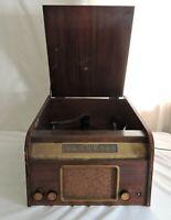 Vtg 1952 Trav-Ler 5210 Super Heterodyne AM Radio Record Player Changer Repair