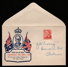 1950 KING GEORGE VI 2 1/2d PRE-DECIMAL STAMP HASLEM FIRST DAY COVER #50.10