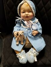 "Vintage 15"" compo Effanbee bubbles doll with case clothes accessories"