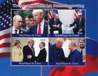 Chad 2018 MNH Donald Trump Putin Summit 4v M/S US Presidents Politicians Stamps