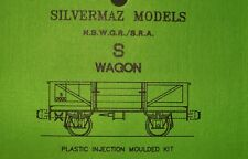 "S Wagon Kit HO ""Silvermaz Model Railways"" NSWGR 4 WHEEL OPEN WAGON"