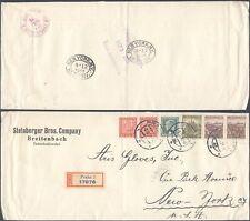 Czechoslovakia 1938 - Registered Cover Prague to New York USA V23/19