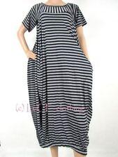Scoop Neck Stripes Regular Size Dresses for Women