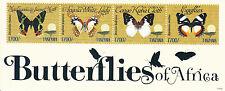 Butterflies Mint Never Hinged/MNH Tanzanian Stamps