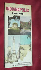 1971 Indianapolis street  map Rock Island Refining Independent  oil gas Indiana