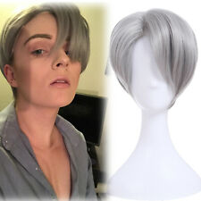 Yuri!!! on Ice Viktor Nikiforov Cosplay Wig Men Gary Short Fashion Party Hair