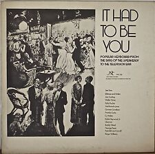 IT HAD TO BE YOU-NM1977LP Popular Keyboard Speakeasy to TV Era GATEFOLD COVER