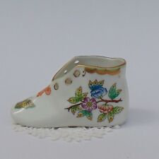VINTAGE PORCELAIN HUNGARIAN HEREND Victoria Queen Pattern SMALL SHOES Marked