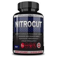 Nitrocut Pre Workout Supplement -120 Capsules - Best Nitric Oxide Supplements t
