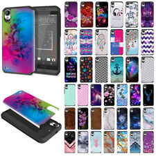 For HTC Desire 530/ 630/ 550/ 555 Hybrid Fusion Hard Rubber Silicone Case Cover