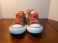 Grey Multi Color TonguesCanvas Low Coverse Women's 10 FREE SHIPPING (used)