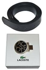 Lacoste Women's Leather Patent Belt Black with 1 Lacoste Print Belt Buckle