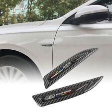 2x JDM Mugen Carbon Fiber Metal Emblem Car Trunk Side Wing Fenders Badge Sticker