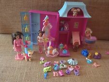 Polly Pocket Pet Salon Groomer Store House Playset Dogs Cats Doll Accessory P85