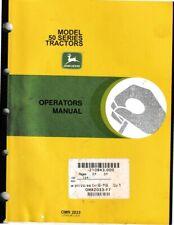 John Deere Model 50 Series Operator's Manual