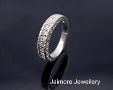 100% Real 925 Sterling Silver CZ Eternity Wedding Dress RING Size 7 + Free Gift
