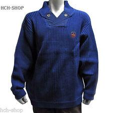 Herren Troyer Sweater Pullover Strickpullover langarm Gr.XXL blau Ton