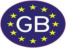 GB (Euro-flag) Car Van Truck Sticker  European legal requirement 125 x 90 mm