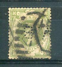 GRANDE-BRETAGNE timbre 103, perforé, perfin, oblitéré