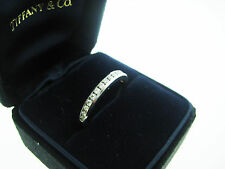 TIFFANY & CO PLATINUM HALF CIRCLE ETERNITY 15 DIAMOND BAND RING SIZE 5.5