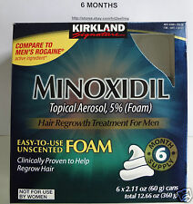 6 Months 5% Foam Minoxidil Hair Regrow/Hair Loss for Men Kirkland Sealed 04/2019
