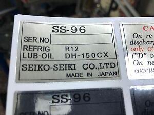 Lancia delta integrale evo a/c compressor ss-96 stickers