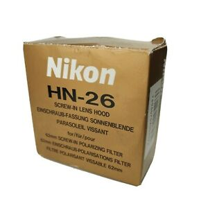 Nikon HN 26 Lens Hood Shape 62mm Screw-in Type [H-01]
