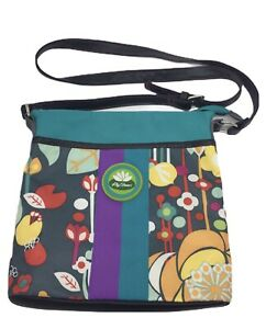 Lily Bloom Crossbody Purse Small Multi Color Floral Messenger Bag Clean