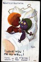 POUPEE de CHIFFON / I LOVE YOU / illustrée par RIGHT période 1920-1930