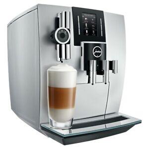 JURA J6 Coffee Machine Brilliant Silver Fully Automatic Espresso Maker - NEW