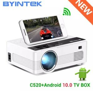 BYINTEK C520 Mini HD Projector with Android 10 TV Box,150inch Home Theater