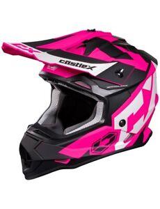 Castle X Mode MX Helmet Snowmobile ATV UTV Offroad Dirt Bike S M L XL 2XL 3XL