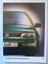 Prospekt Volkswagen VW Golf / Golf Variant III Sondermodell Movie, 9.1995, 12 S.