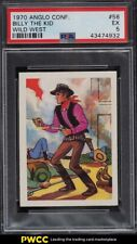 1970 Anglo Confectionery Wild West Billy The Kid #58 PSA 5 EX
