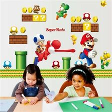 Super Mario Removable Bros Kids Room Games Wall Sticker Decals Home Decor Vinyl