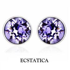 Tanzanite Blue Swarovski Stud Earrings by Ecstatica™