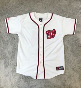 Bryce Harper 34 Washington Nationals Majestic Boys Jersey White Short Sleeve XL