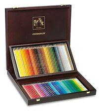 Caran D'Ache Prismalo 80 Set Artist Watercolour Colour Pencils Wooden Gift Box